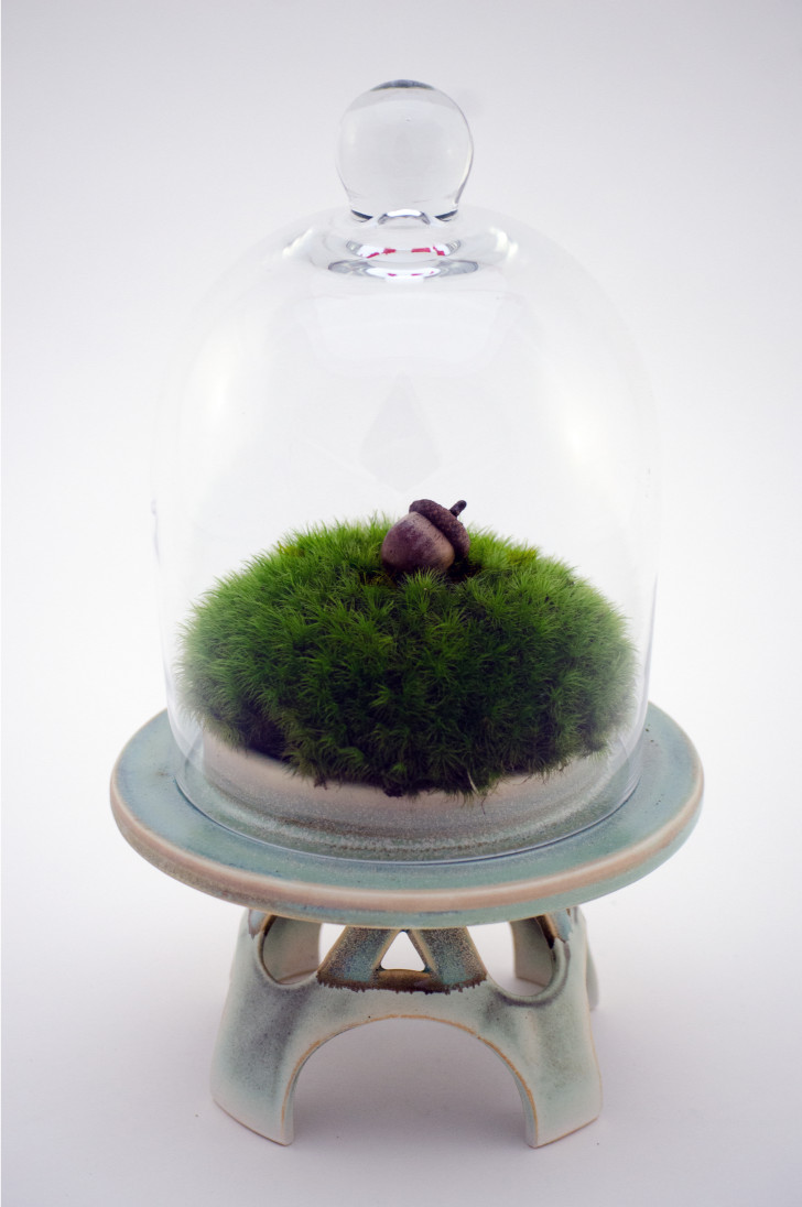 Moss Ball with Acorn